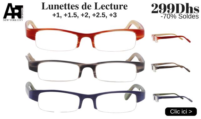 c891104818b1ad Lunettes De Vue Maroc   Optique - Solaires - Lentilles   Opticien en ...